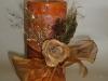 decorazione candela con rosa